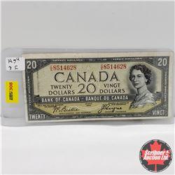 Canada $20 Bill 1954DF : Beattie/Coyne CE8514628
