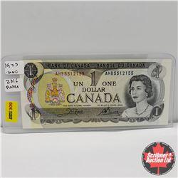 """Canada $1 Bill 1973 : Crow/Bouey AMB5512155 """"Radar"""""""