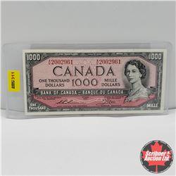 CHOICE OF 3 Canada $1000 Bills : Thiessen/Crow AK2002961; Lawson/Bouey AK1809258; Lawson/Bouey AK183
