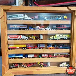 Toy Truck Collection with Display Case