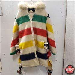 Vintage Hudson Bay Hooded Coat w/Mittens (3-1/2 Pelt Lines)