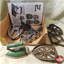 Iron & 6 Trivets