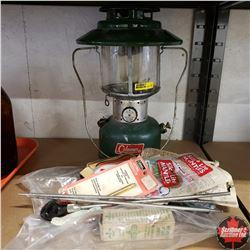 Coleman Lantern w/Mantles & Lamp Supplies