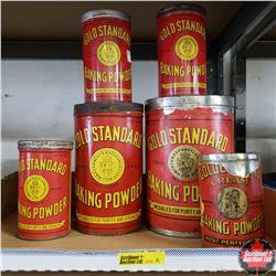 Tray Lot: Variety Gold Standard Tins (6)