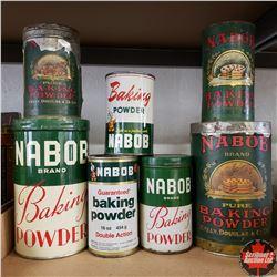 Tray Lot: Variety Nabob Tins (7)