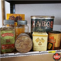 Tray Lot: Variety Coffee/Tin Tins & Jars
