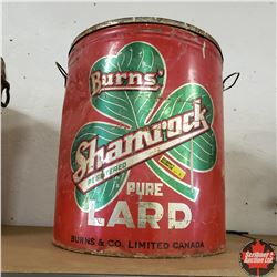 "Burns Shamrock Lard Pail (15""H)"
