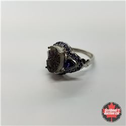CHOICE OF 29 RINGS:  1353 Ring - Size 9: Blue Druzy Lab Sapphire - Sterling Silver