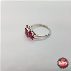 CHOICE OF 29 RINGS:  1357 Ring - Size 9: Lab Ruby - Sterling Silver