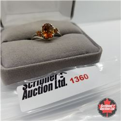 CHOICE OF 29 RINGS:  1360 Ring - Size 9: Citrine (Platinum Overlay)