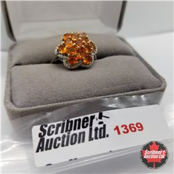 CHOICE OF 29 RINGS:  1369 Ring - Size 8: Jalisco Fire Opal  (Platinum Overlay)