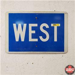 """Sign """"WEST"""" (Metal)18"""" x 12"""""""