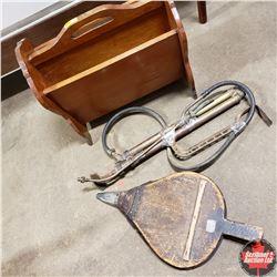 Combo: Magazine Rack, Fire Extinguisher Pump & Bellows