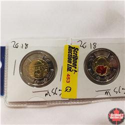 Canada One Dollar - Strip of 2: 2018 (Armistice)
