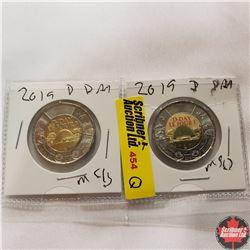Canada One Dollar - Strip of 2: 2019 (D-Day)