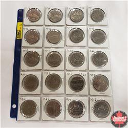 Canada One Dollar - Sheet of 20: 1968; 1969; 1870-1970; 1971; 1972; 1973; 1974; 1975; 1976; 1977; 19