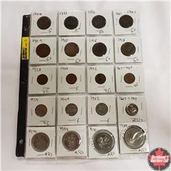Canada Coins - Variety Mixed - Sheet of 20: