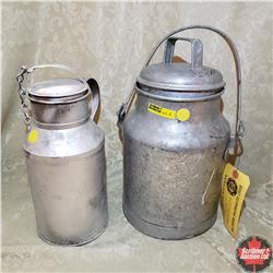 Pair of Small Milk Cans