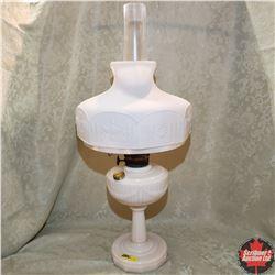 Aladdin Lincoln Drape Lamp w/Model B Burner & Frosted Glass Shade