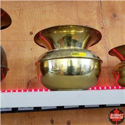 Brass Spittoon (7-1/2  H)