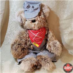 Koala Bear in Train Man Outfit