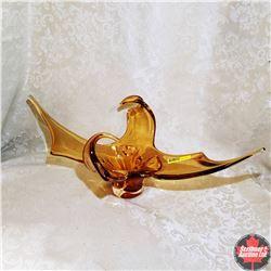 Chalet Glass Bowl (Amber)