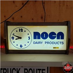 """""""Noen Dairy Products"""" Light Up Clock (Lense Cracked)"""