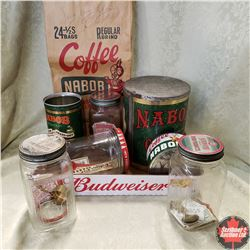 Tray Lot: Nabob Collection (4 Jars, 3 Tins, 1 Bag)