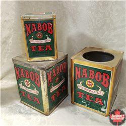 Nabob Tea Tins (3)