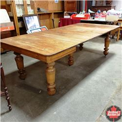"""Dining Table (5 Leaves) 8ft x 44"""" when all leaves in & 44"""" x 44"""" with no Leaves in"""