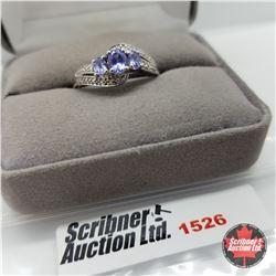 CHOICE OF 31 RINGS:  1526 Ring - Size 10: Tanzanite (Platinum Overlay)