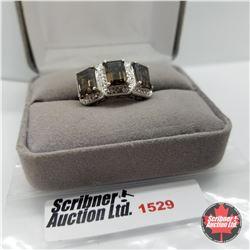 CHOICE OF 31 RINGS:  1529 Ring - Size 7: Smokey Brazilian Quartz - Sterling Silver