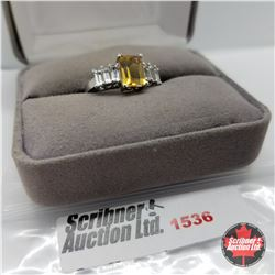 CHOICE OF 31 RINGS:  1536 Ring - Size 7: Citrine Topaz - Sterling Silver