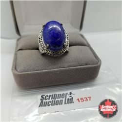 CHOICE OF 31 RINGS:  1537 Ring - Size 7: Lapis (Platinum Bond)