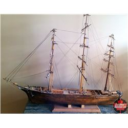 Wooden Ship Model w/Stand
