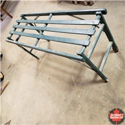 Folding Wash Tub Bench (Painted Green)