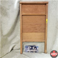 Victory  Washboard - Wooden w/Bar of P&G Soap