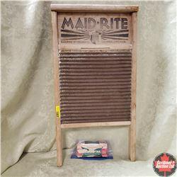Maid-Rite  Washboard - Tin w/Bar of Fels-Naptha Soap