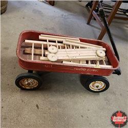 Radio Flyer Wagon w/Doll Crib (Disassembled)