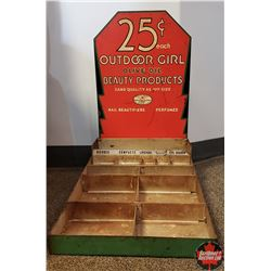 Outdoor Girl  Beauty Products Counter Top Display (14 W x 24 D x 24 H)