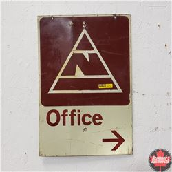 """Metal Sign """"Office"""" (12"""" x 18"""")"""