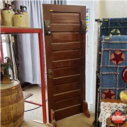 Refurbished Door (30 W x 78 H) - Freestanding with Hat/Coat Hooks