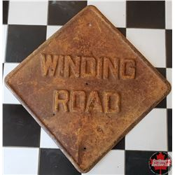 """Metal Sign """"Winding Road""""    24"""" Square"""
