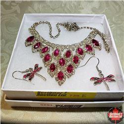 1620 Austrian Crystal Necklace & Earring Set