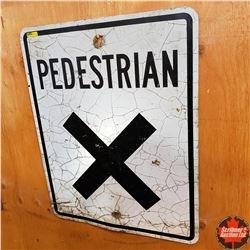"""Metal Sign: Pedestrian X (24"""" x 30"""")"""
