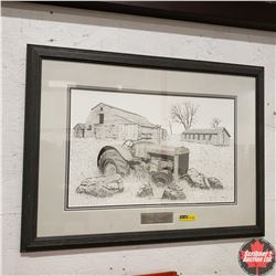 """Framed Limited Edition Print """"Case of Disrepair"""" 294/795 by Bernie Brown from Alberta (24"""" x 18"""")"""