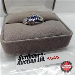 CHOICE OF 26 RINGS:  1548 Ring - Size 10: Tanzanite - Platinum Bond Overlay