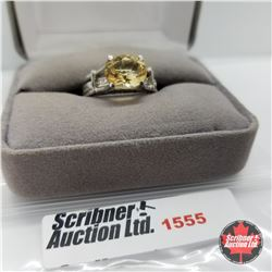 CHOICE OF 26 RINGS:  1555 Ring - Size 6: Citrine (Platinum Overlay)