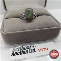CHOICE OF 26 RINGS:  1570 Ring - Size 7: Labradorite - Sterling Silver  - Platinum Bond Overlay