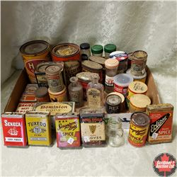 Tray Lot : Spice Cupboard Finds! Tins, Jars & Boxes